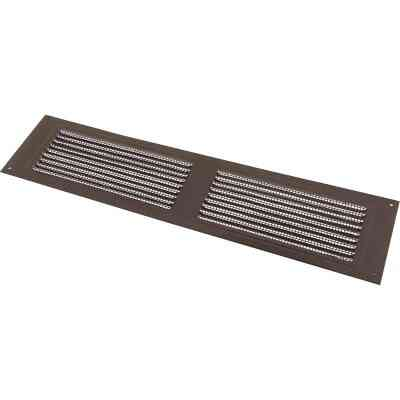 NorWesco 16 In. x 4 In. Brown Galvanized Soffit Ventilator