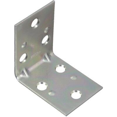 National Catalog V121 2 In. x 1-1/2 In. Double Wide Zinc Corner Brace