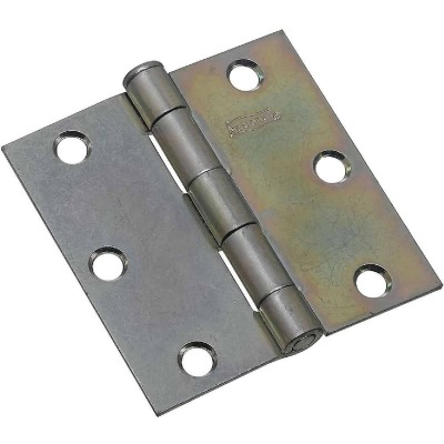 National 3 In. Square Zinc Plated Steel Broad Door Hinge (2-Pack)