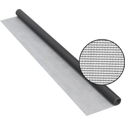 Phifer 48 In. x 84 In. Charcoal Fiberglass Screen Cloth Ready Rolls