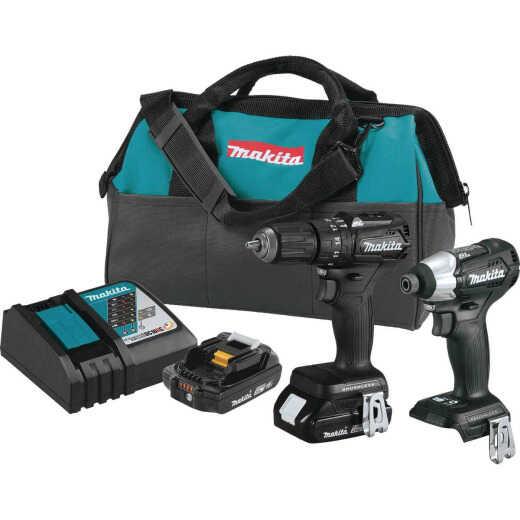 Makita 2-Tool 18V LXT Lithium-Ion Brushless Drill/Driver & Impact Driver Cordless Tool Combo Kit