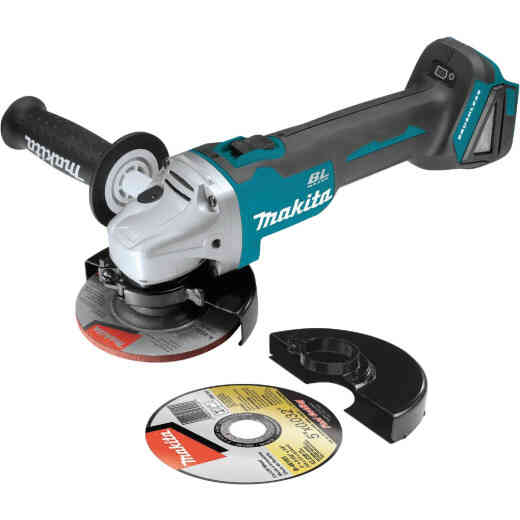 Makita 18 Volt LXT Lithium-Ion 4-1/2 In. - 5 In. Brushless Cordless Angle Grinder/Cut-Off Tool (Bare Tool)