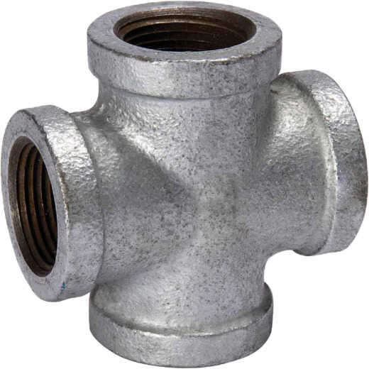 Southland 1 In. Malleable Iron Galvanized Pipe Cross