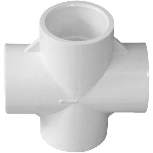 Charlotte Pipe Schedule 40 3/4 in. PVC Pipe Cross