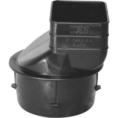 Advanced Basement 2 In. X 3 In. X 3 In. Polyethylene Corrugated to Downspout Barb X Female Adapter