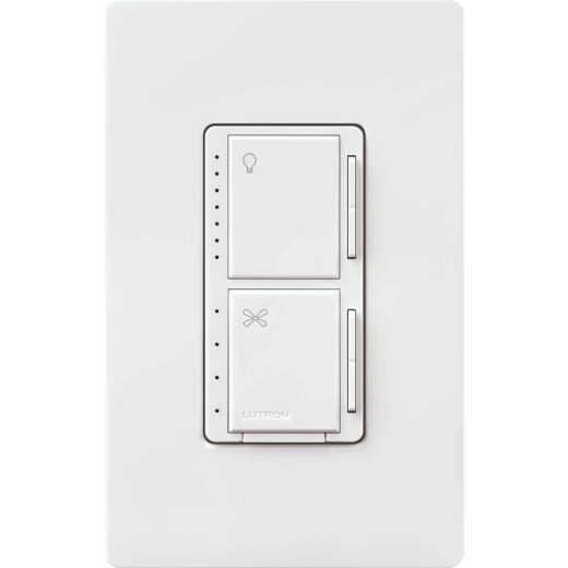 Lutron Maestro White Dimmer & Fan Control Switch