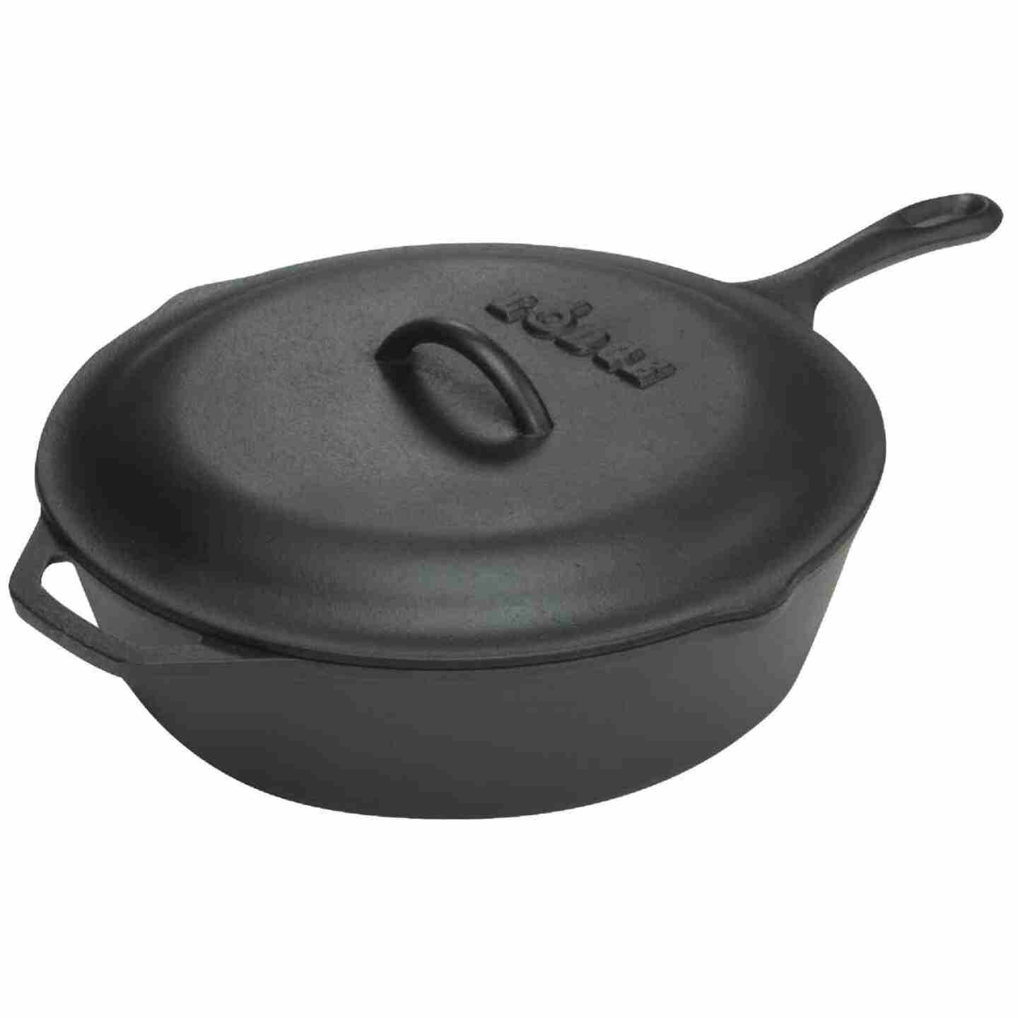 Lodge 10-1/4 In. 3 Qt. Cast Iron Chicken Fryer Image 1