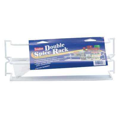 Grayline White Double Spice Rack