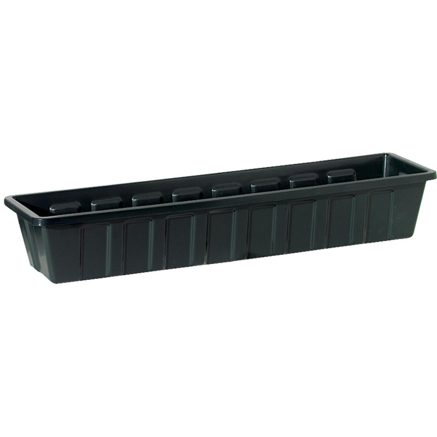 Novelty Poly-Pro 36 In. Polypropylene Hunter Green Flower Box Planter Image 1