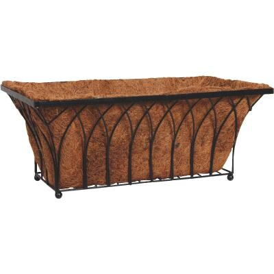 Best Garden 11 In. H x 22 In. Steel Rod Black Planter