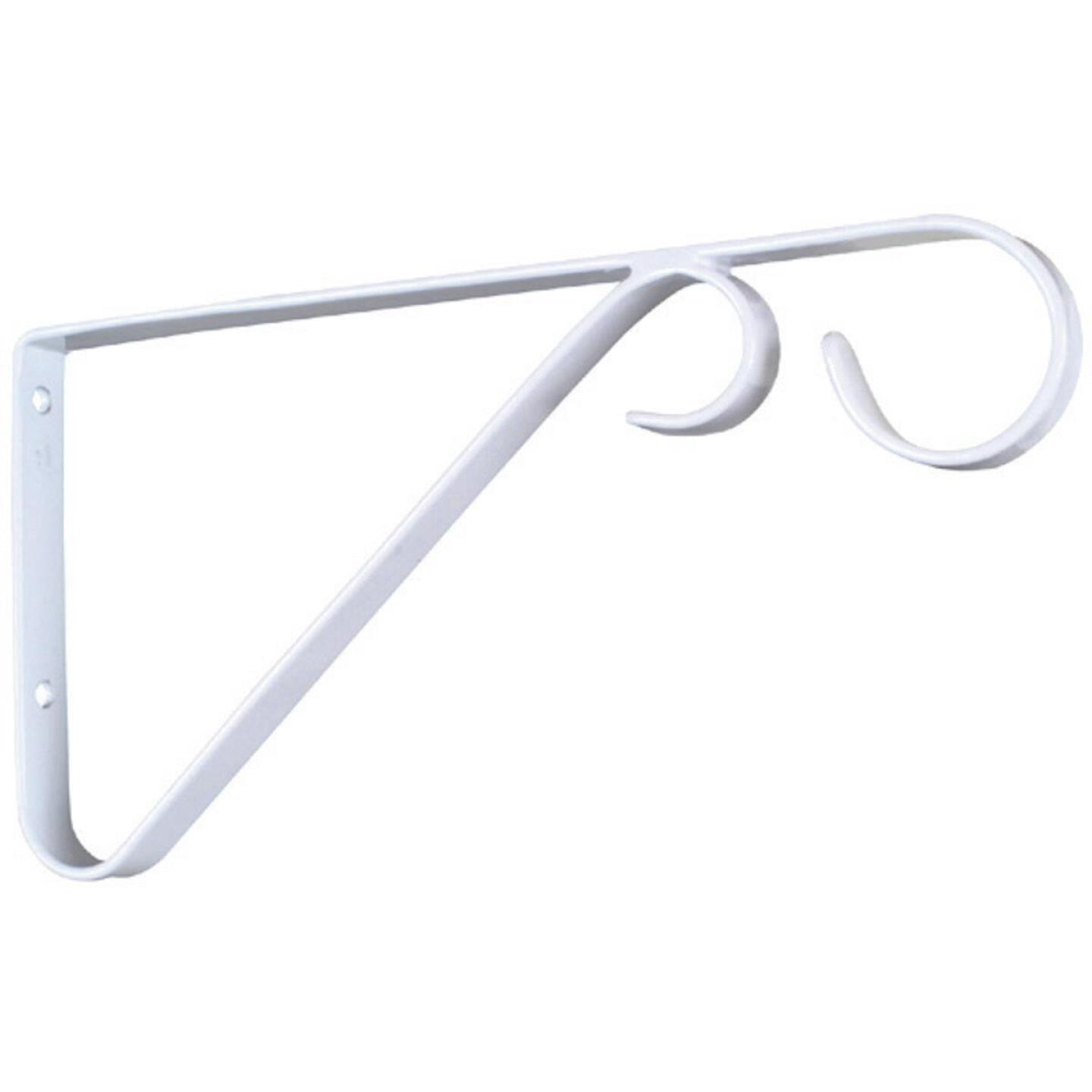 National 9 In. White Steel Hanging Plant Bracket Image 4