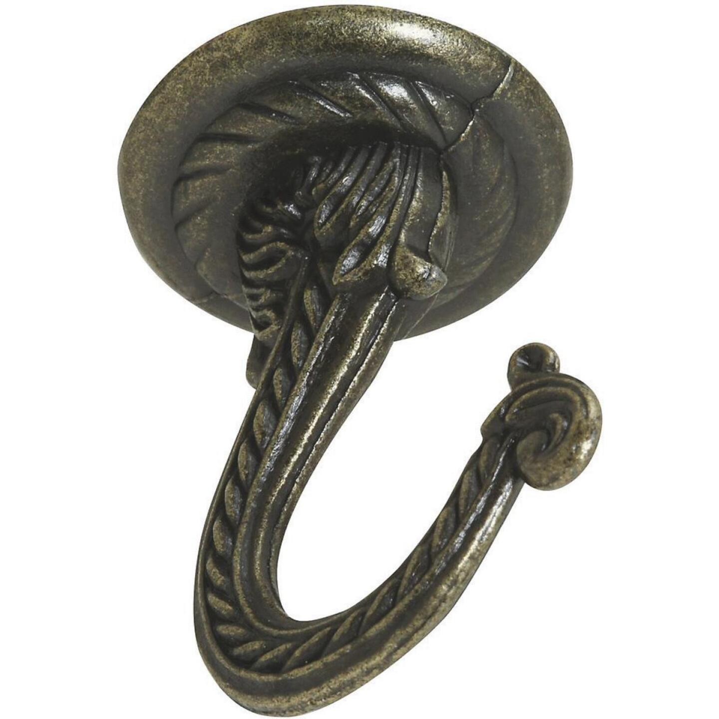 National 2-1/4 In. Antique Brass Die Cast Swag Hook Image 3