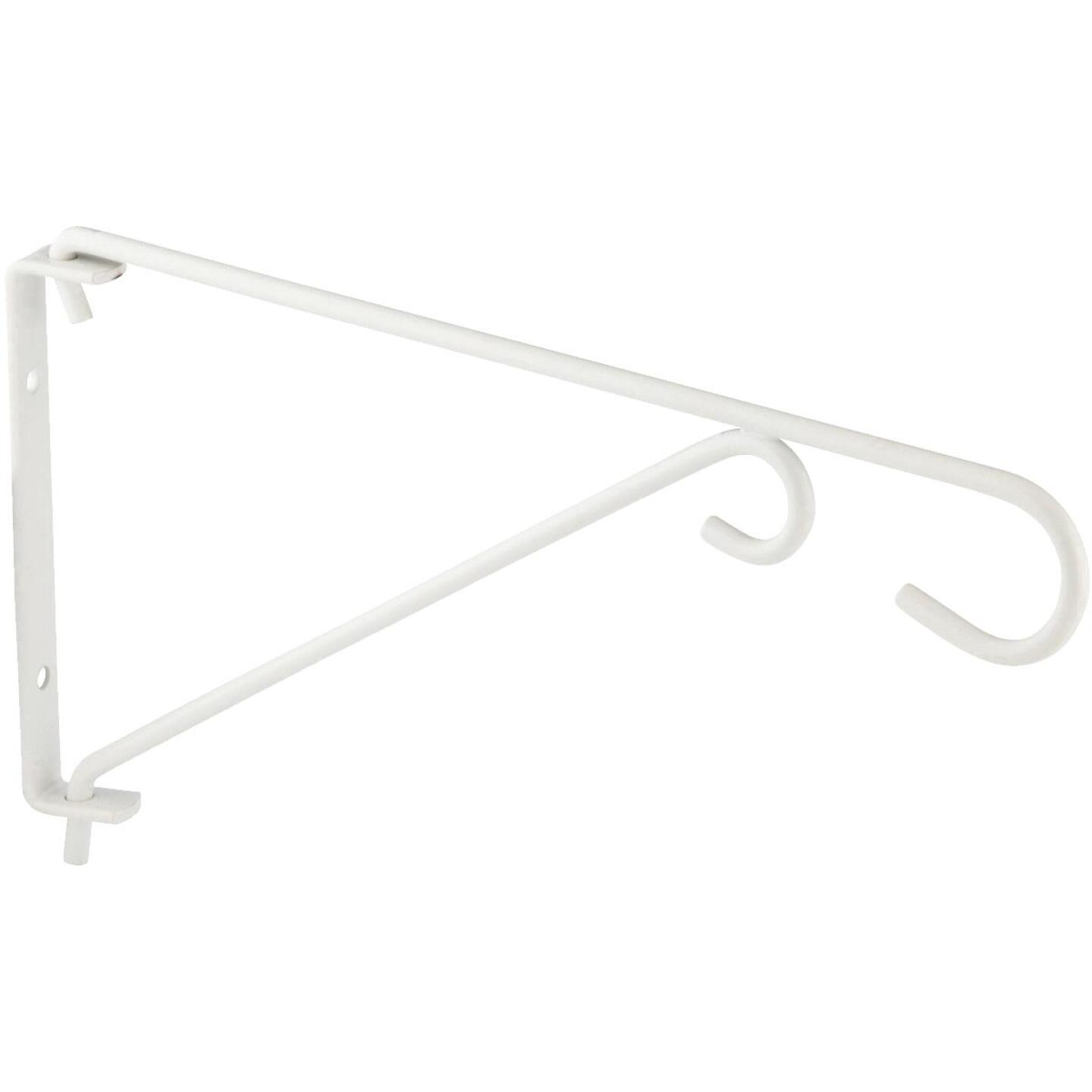 National 9 In. White Steel Swivel Hanging Plant Bracket Image 3