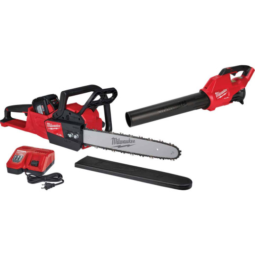 Milwaukee M18 Fuel 16 In. 18V Cordless Chainsaw & Blower Kit
