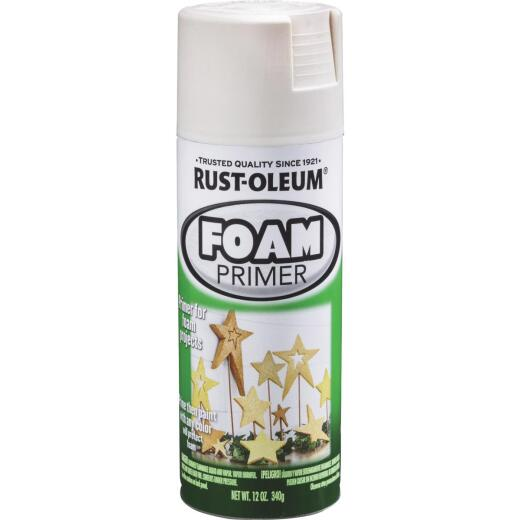 Rust-Oleum 12 Oz. White Foam Primer Spray