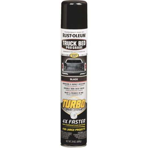 Rust-Oleum Pro Grade Turbo 24 Oz. Black Truck Bed Liner Spray