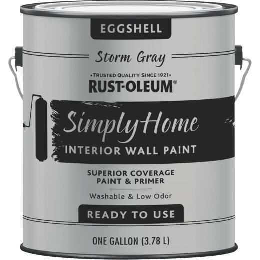 Simply Home Eggshell Storm Gray Interior Wall Paint, Gallon